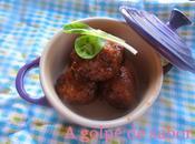 Albóndigas caramelizadas soja vermut