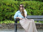 Kaki long skirt
