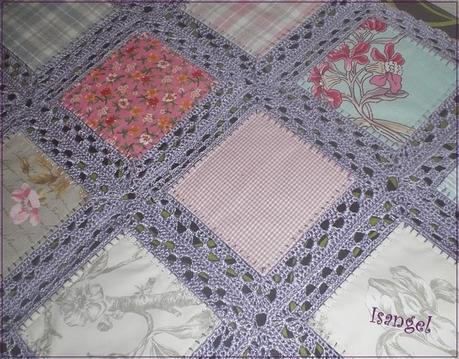 Colcha fusion tela y crochet paperblog - Como hacer una colcha de tela ...