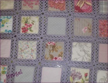 Colcha fusion tela y crochet paperblog - Tela para colchas ...