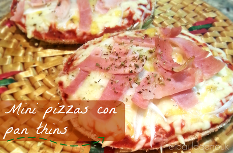 Receta: Mini pizzas con pan Thins