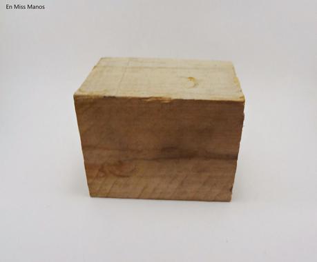portavelas con taco de madera paperblog