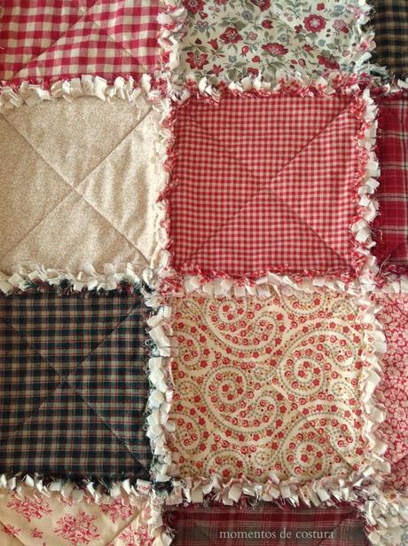 Mi manta rag quilt paperblog - Como hacer mantas de patchwork ...