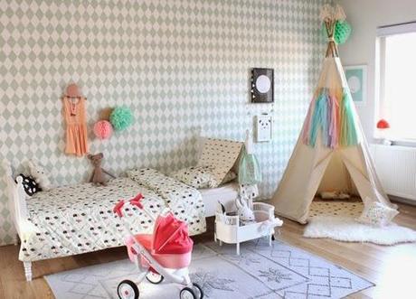 Decorar habitaciones de ni os con tipis diy paperblog - Pintar habitacion infantil nino ...