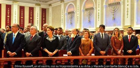 Dilma Rousseff, 'reina de Saba' del Templo de Salomón de la IURD