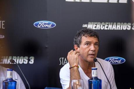 Antonio Banderas en el estreno de Los Mercenarios 3