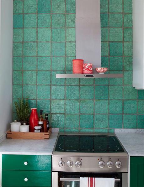 Azulejos artesanos para la cocina paperblog - Azulejos pintados cocina ...