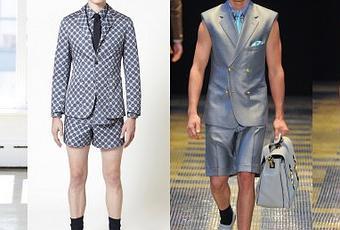 Traje pantalon corto hombre