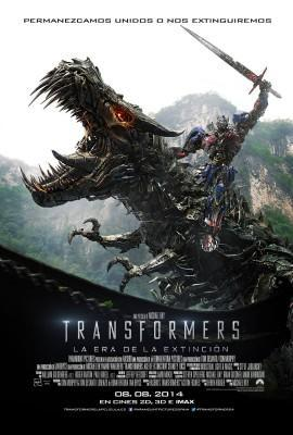 Transformers la era de la extincion poster españa