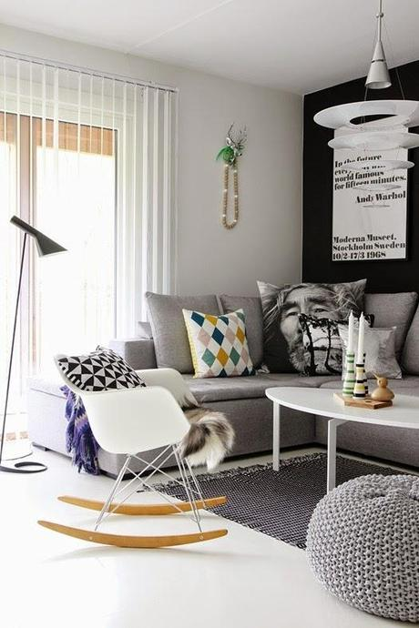 10 scandinavian living rooms 10 salones de estilo for Cortinas estilo escandinavo