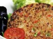 Hamburguesas soja pimiento veganas