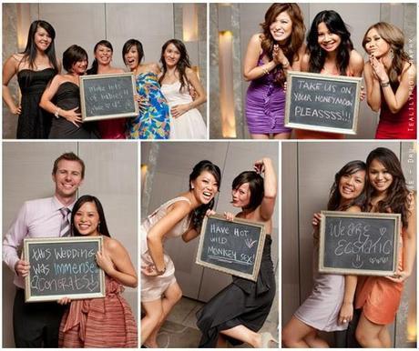 ¡Pon pizarras en el photobooth de tu boda!