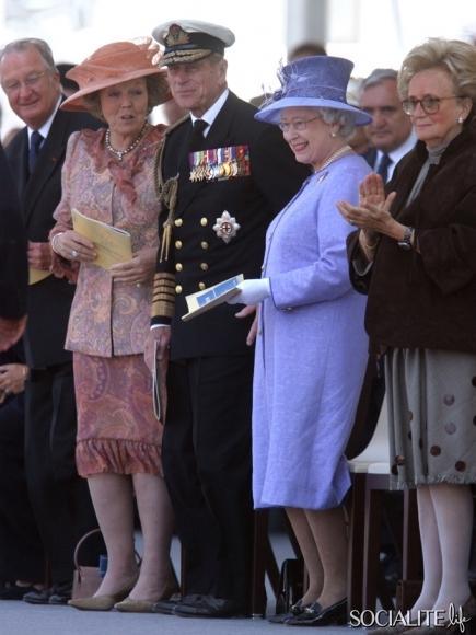 Netherlands King Albert, Queen Beatrix, UK Queen Elizabeth, Prince Phillip