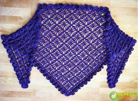 5 Modelos De Chales Tejidos A Crochet Paperblog