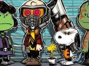 Divertido mash-up entre peanuts guardianes galaxia