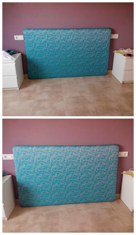 Como hacer un cabecero de cama forrado paperblog - Hacer cabecero cama ...