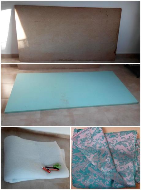 Como hacer un cabecero de cama forrado paperblog - Hacer cabeceros de cama ...