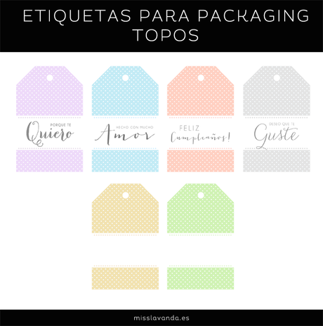 Freebies: etiquetas para packaging