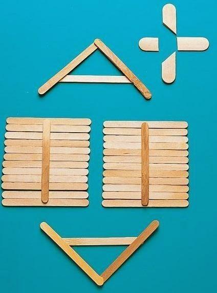 Manualidades casitas con palitos de helado - Paperblog