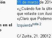 PODEMOS cambia fecha nacimiento Wikipedia: antes 11-M ahora enero.