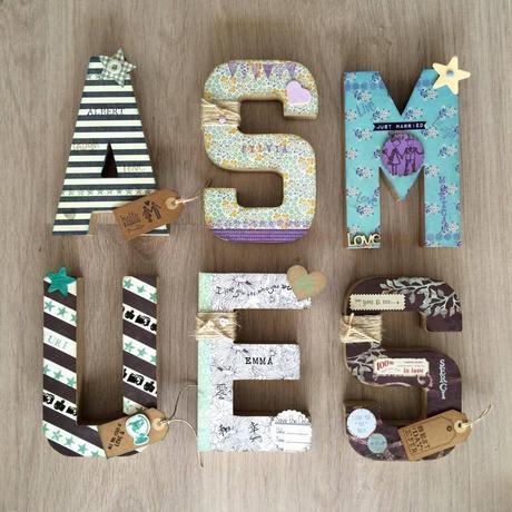 Letras de madera para decorar habitaciones infantiles paperblog - Letras de madera para decorar ...