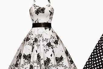 Vestido vintage blanco y negro