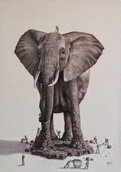 Ricardo Solís, un constructor que crea animales a través de la ilustración