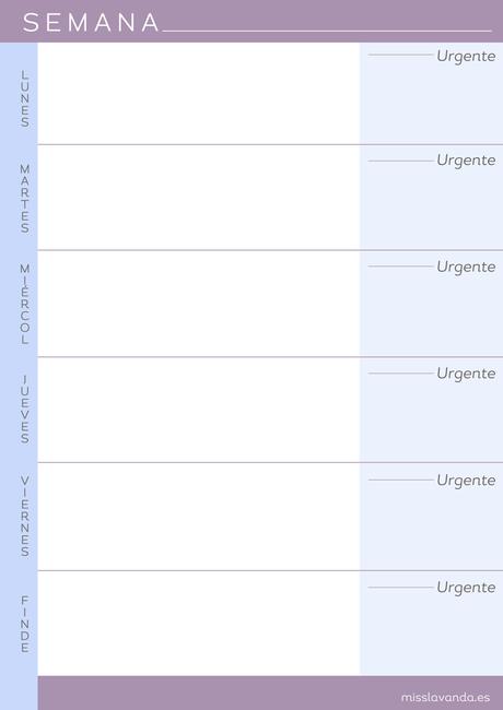 Freebies: 8 Planificadores semanales para descargar