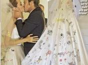 Angelina Jolie casó Versace Atelier original velo dibujos hijos. Descúbrelo aquí