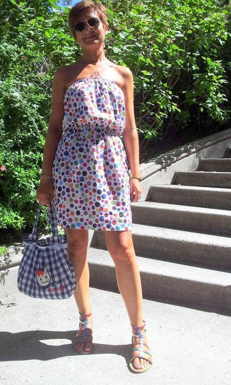 Colordot dress by Labamba