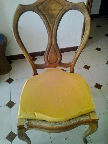 El paso a paso del tapizado de mis sillas de comedor ...