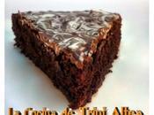 Tarta chocolate estilo francés textura jugosa