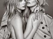 Cara Delevingne Kate Moss juntas para Burberry
