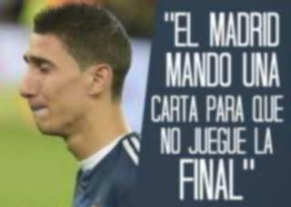 Real Madrid no quería que Di María jugara la final del Mundial 2014