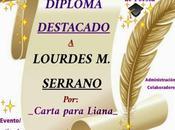 """Tengo premio diploma destacado poema """"carta para liana"""""""