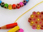 Diy: Abalorios bisutería reciclando lápices colores