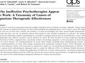 ¿Por psicoterapias inefectivas parecen funcionar? Lilienfeld col.