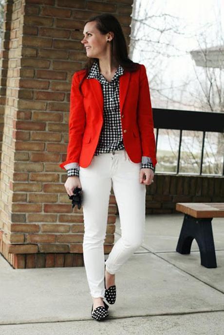 #Divitip - U00bfCu00f3mo Combino Un Blazer Rojo? - Paperblog