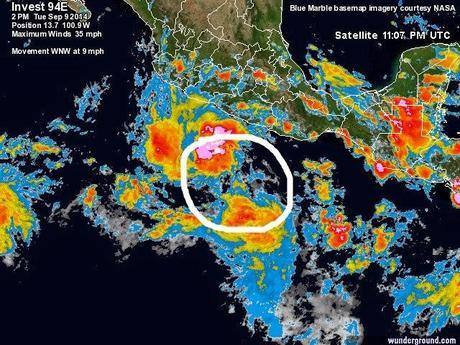 México: baja presión al sur de Guerrero evolucionará a un ciclón tropical