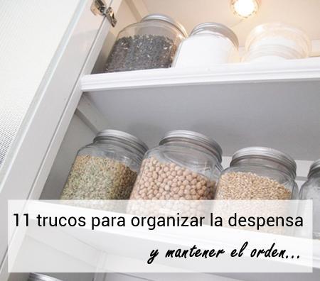 11 trucos para organizar tu despensa y mantener el orden for Armario despensa cocina