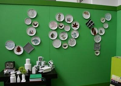 Idea original para Navidad: platos en la pared