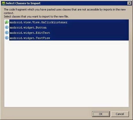 Copiar código Java en Android Studio