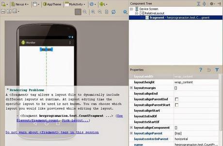 Rendering Problems en Android Studio
