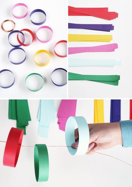 Diy guirnaldas de papel y tela paperblog - Guirnaldas de tela ...