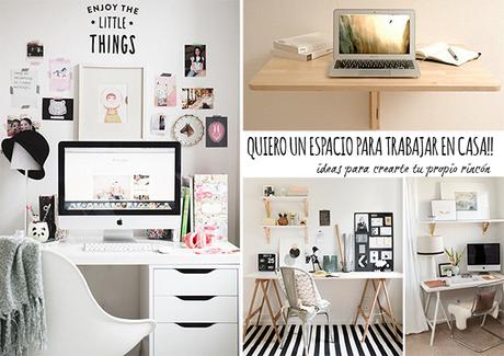 5 5 ideas para crea tu propio espacio para trabajar en for Crea tu casa