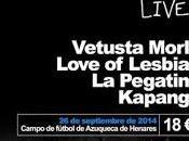 Azuqueca Live! Vetusta Morla, Love Lesbian, Pegatina Kapanga