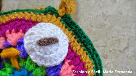Cartera de buho tejida a crochet o ganchillo (Crocheted owl purse ...