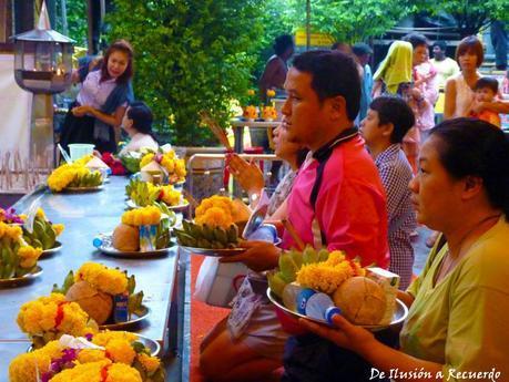 Ofrendas en Bangkok