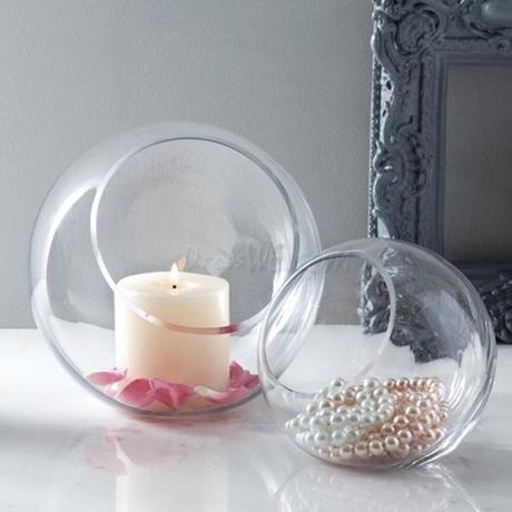Detalles para invitados y decoraci n para bodas con - Decoracion jarrones cristal ...