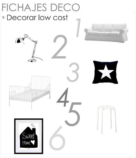 inspiraci n deco como decorar tu primera casa low cost paperblog. Black Bedroom Furniture Sets. Home Design Ideas